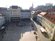 A public square in Bratislava. royalty free stock images