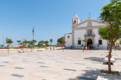 Public square called Praca Infante Dom Henrique in Lagos Stock Photography