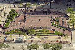 Public Square in Cleveland Stock Image