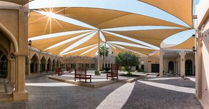 Public square in the rebuild, traditional village of Katara Cultural Center Royalty Free Stock Images