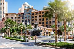 Public square on the Medina Centrale district at the Pearl in Doha Stock Photography