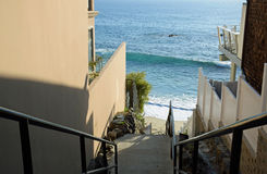 Public stairway to beach at Woods Cove Beach in Laguna Beach, California. Stock Images