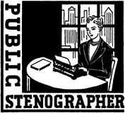 Public Stenographer Stock Image