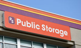 Public Storage Sign. Falls Church, VA, USA - July 28, 2011: Sign at a Public Storage facility.  Public Storage (NYSE:PSA), a real estate investment trust (REIT Stock Images