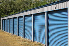 Public Storage Units Stock Photo