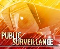 Public surveillance Abstract concept digital illustration Stock Images