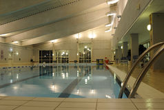 Public swimming pool. Indoor view of public swimming pool Stock Photos