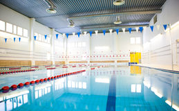 Public swimming pool Royalty Free Stock Photo