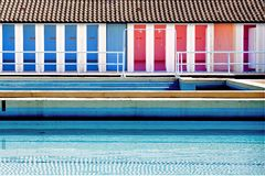 Public swimming pool Stock Images