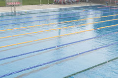 Public swimming pool. Close of public swimming pool detail Royalty Free Stock Image