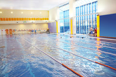 Public swimming pool Royalty Free Stock Photography