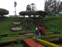 Public taking snap botanical garden ooty, india. This snap is from botanical rose garden ooty, india. Awesome view of all flowers that you may love Royalty Free Stock Photo
