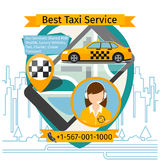 Public taxi creative poster Royalty Free Stock Photography
