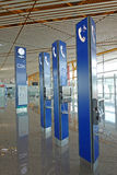 Public telephone  in Beijing Capital International Airport Stock Photos