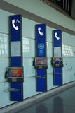 Public telephone  in Beijing Capital International Airport Royalty Free Stock Photos