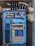 Public telephone booth in La Palma Royalty Free Stock Photography