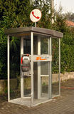 Public telephone box Telecom in Italy Stock Photos