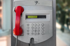 Public telephone on the city street in Monte Carlo, Monaco Stock Photos