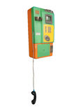 Public Telephone(with clipping path) Royalty Free Stock Photo