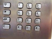 Public telephone keypad Royalty Free Stock Photo