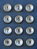 Public Telephone keypad ,macro Royalty Free Stock Image