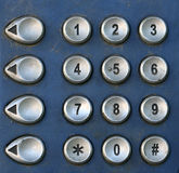 Public Telephone keypad ,macro Royalty Free Stock Photos