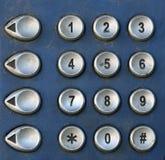 Public Telephone keypad ,macro. Pic of Public Telephone keypad ,macro Royalty Free Stock Photos