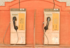 Public telephone Stock Images