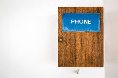 Public telephone on the wall Royalty Free Stock Image