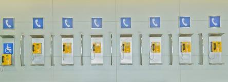 Public telephones stock photo