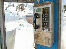 Public telephones dirty in Bangkok, Thailand. royalty free stock photo