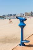 Public telescope on the beach Royalty Free Stock Photos