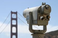 Public Telescope Looks Towards Golden Gate Royalty Free Stock Images