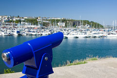 Public Telescope overlooking Harbourside Royalty Free Stock Image