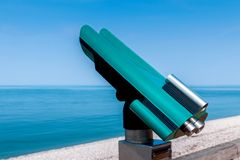 Public telescope at seaside Royalty Free Stock Photography