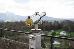 Public telescope for urban scene Royalty Free Stock Images