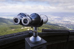 Public telescope view from Jested mountain near Liberec Czech republic Royalty Free Stock Photo