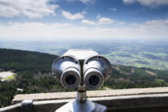 Public telescope view from Jested mountain near Liberec Czech republic Stock Photos