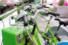 Public tental bicycles in Thailand Royalty Free Stock Photography