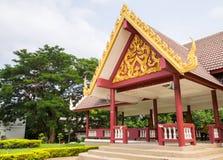 Public thai pavillion in park Stock Photo