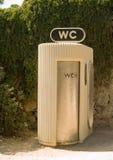 Public toilet. A public restroom in a park Stock Photography