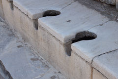 Public toilet from ancient Roman times Stock Photo