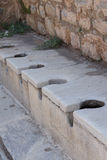 Public toilet from ancient Roman times Royalty Free Stock Photo