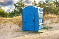 Public toilet. In the beach Royalty Free Stock Photo