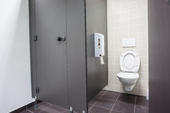 An public toilet. In an public building royalty free stock photo