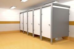 Public toilet. 3D illustration of public toilet Royalty Free Stock Photos