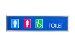 Public Toilet With Disabled Access. Stock Image