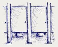 Public Toilet. Doodle style. Vector Stock Images