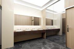 Public toilet interior. 3d illustration royalty free illustration