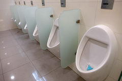 Public toilet interior Stock Photo